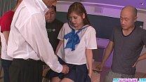 Schoolgirl Yura Kasumi is a hot japanese cum girl video