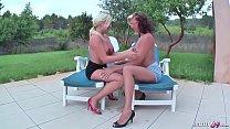 German Lesbian - 2 Deutsche Teens verlieren Wette und haben ersten Lesben Sex mit Pissen und echten Orgasmus bei Urlaub am Ballerman 6 Vorschaubild