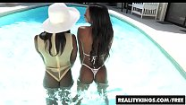 Sexy ebony teens (Tiffany Tailor, Ana Foxx) take a white dick - Reality Kings - 9Club.Top