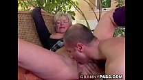 Busty Granny Takes Young Dick Preview