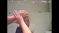 myKinkyHobby.com video: Headshave and cumshot of the Kinkest Hairdresser Student