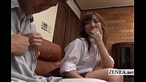 Subtitled CFNM Japanese schoolgirl with older b...
