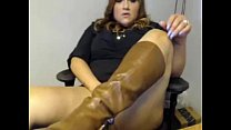 BBW Latina Playing At Work - CamzHQ.com