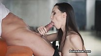 Big white cock deep in girlfriends amazing tight ass