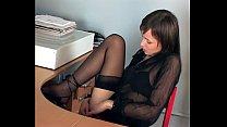 Skinny secretary masturbating Thumbnail