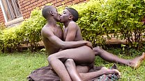 Hung Black African Twinks Fucking Bareback