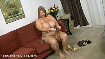 Busty BBW MILF Samantha 38G Sucks Candy Cock