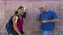 Petite and Flexible Teen in Real Street Casting...