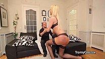Sexy big booty tranny fucks for cash