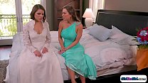 Maid of honor makes bride squirt in face's Thumb