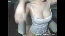 Korean busty girl shows her hot body thumbnail