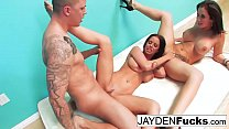 Jayden Jaymes and Brandy Aniston hardcore threesome