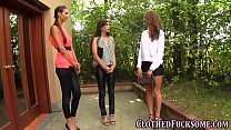 Glam clothed les 3some pornhub video