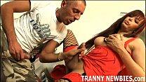 You will love the taste of my big tranny cock - Download mp4 XXX porn videos