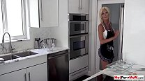 Busty Milf Stepmother Blows Her Stepson Next To Dad