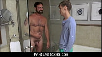 Twink Step Son Fucked By Step Dad After Caught Recording Him In Shower