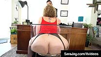 PAWG Boss Lady Sara Jay Face Fucks A Big Black Cock! صورة