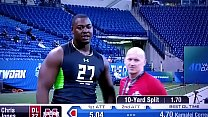Chris Jones NFL Combine flub