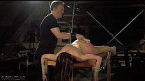 Sensual hot and kinky bondage sex for tied up teen preview image