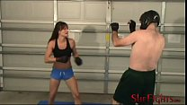 MMA Fight: Cindy vs Headgear Guy - Painful Struggle with Cute Girl pornhub video