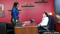 Headhunter is a very persuasive latina MILF with big curves video