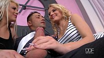 Two Hungarian beauties suck your Cock, POV style! image