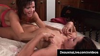 Busty Milf Deauxma Squirts in Magdelaine St.Michaels' Mouth! thumbnail