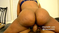 Ebony black woman rides dick reverse cowgirl the best pornhub video
