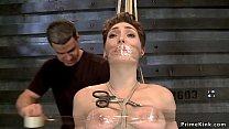 Tied slave set on Sybian vibrator صورة