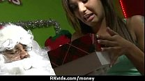 Stunning Euro Teen Gets Talked In To Giving A Blowjob For Cash 4