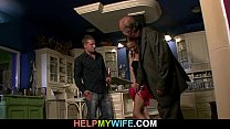 12346 Old hubby watches a guy bangs his young wife preview