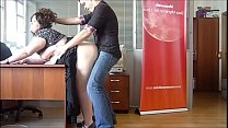 Horny BBW Milf fucked at the office by the boss thumb