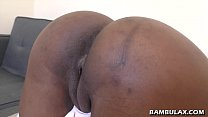 Ebony amateur doggystyle and creampie