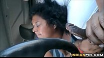 Fat Indian Gives A Blowjob In The Car's Thumb