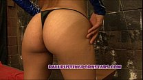Mortal Kombat Femdom Ballbusting Sex with Crystal Lopez (Kitana and Scorpion) thumbnail