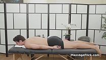 Lucky client bangs natural huge titty masseuse Preview