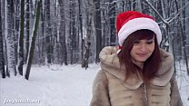 White stockings wet in snow - Happy New Year from Jeny Smith