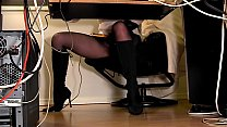 Compilation of secretary legs and masturbation صورة
