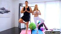 Sexy blonde MILF Sarah Vandella anal sex in yoga class thumbnail