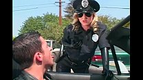 Kinky female cop molesting thumb