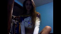 Teen cheerleader from 69webcam.net teasing