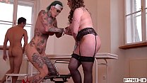 11431 Tattooed Nurses Calisi Ink & Harmony Reigns Go Wild In Clinic BDSM Scene preview