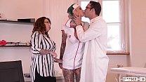 nastyflixxx - Tattooed Nurses Calisi Ink & Harmony Reigns Go Wild In Clinic BDSM Scene thumbnail