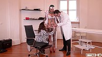 Tattooed Nurses Calisi Ink & Harmony Reigns Go Wild In Clinic BDSM Scene