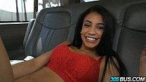 Tiny teen latina Veronica Rodriguez takes a couple of cocks on the 305bus 2.1