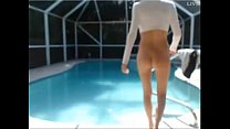 Hot blonde play at the pool with boyfriend on cam on 4xcams.com's Thumb