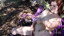 Nude in San Francisco:  Abused wife Cordelia masturbates and toys in public Image