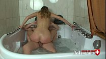 Blonde teen Gina fucked in the whirlpool