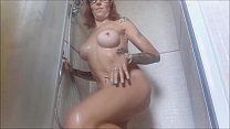 9209 Incredible! spy on me while undressing to get a nice hot shower, not before I soaped and massaged for a long time the big tits preview