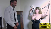 Beautiful Madison Stewart tied up before fucking